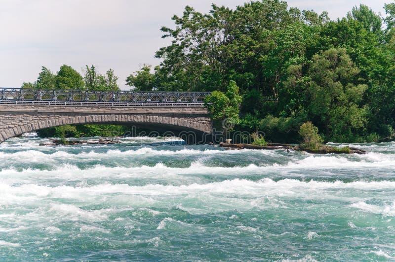 Sosta di condizione del Niagara Falls fotografie stock libere da diritti