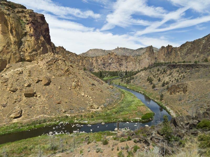 Sosta di condizione della roccia dello Smith nell'Oregon fotografie stock