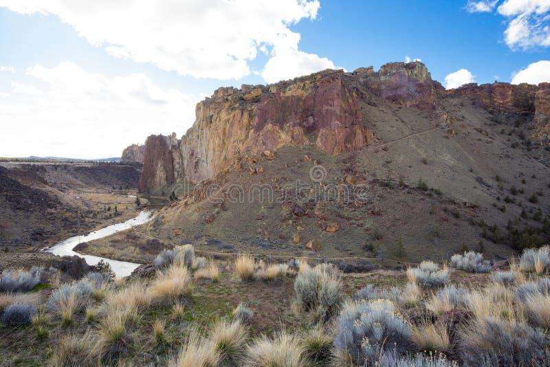 Sosta di condizione della roccia dello Smith nell'Oregon fotografie stock libere da diritti