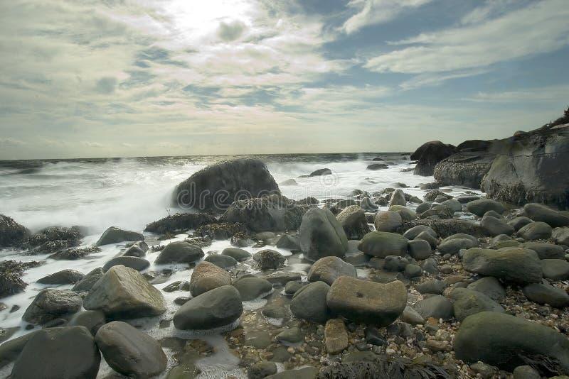 Sosta di condizione della spiaggia di Hammonasset fotografia stock libera da diritti