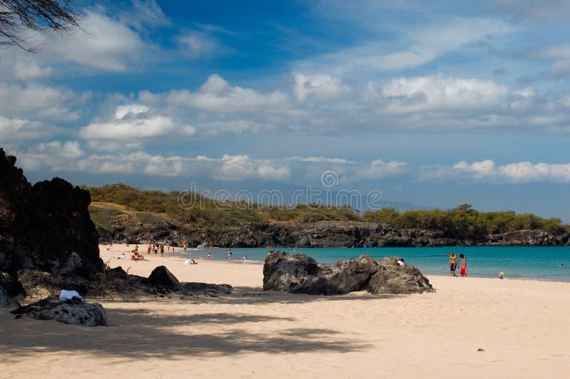Sosta di condizione della spiaggia di Hapuna immagine stock libera da diritti