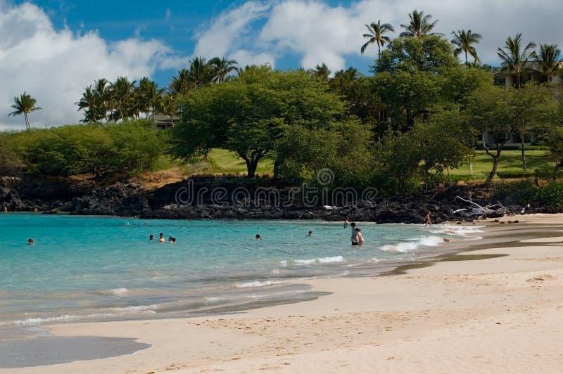 Sosta di condizione della spiaggia di Hapuna fotografia stock libera da diritti