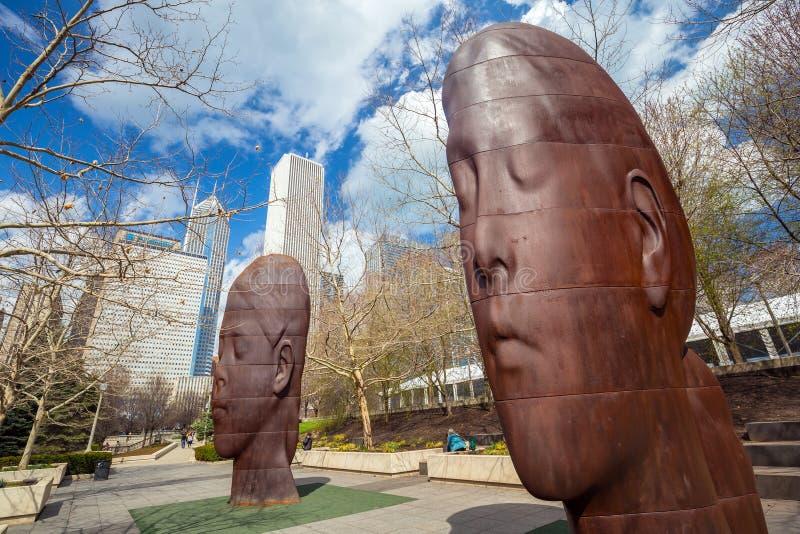 Sosta di millennio, Chicago fotografia stock