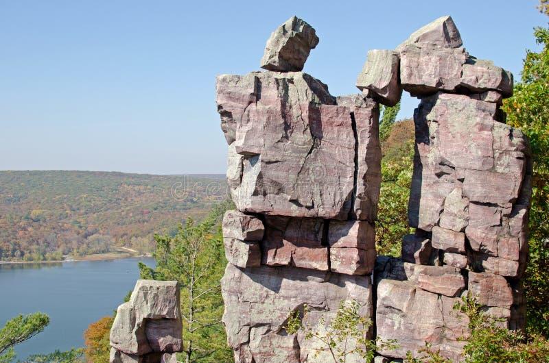 Sosta di stato del lago devil, Wisconsin fotografia stock