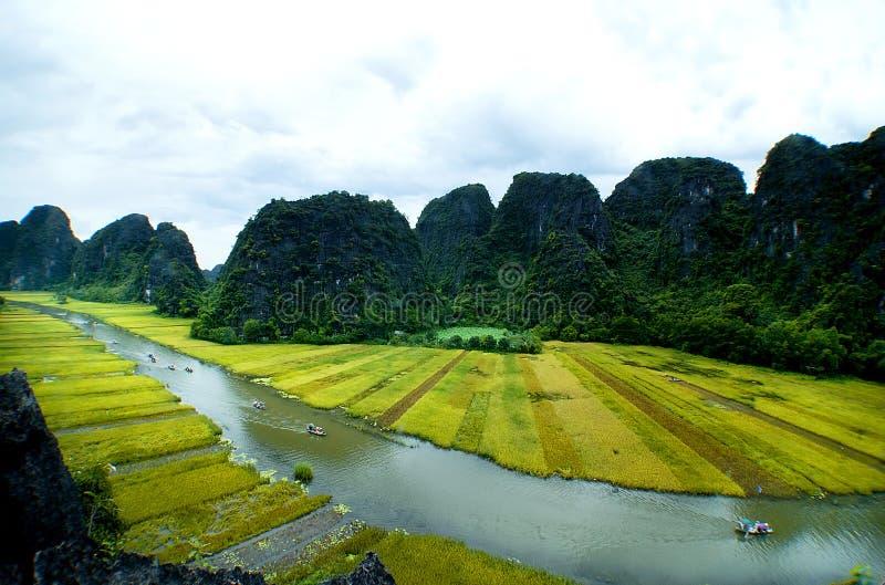 Sosta di Tam Coc Natioanl fotografia stock