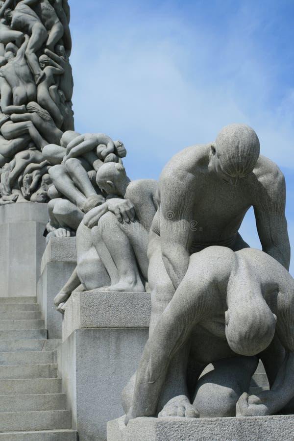 Download Sosta di Vigeland a Oslo immagine stock. Immagine di statua - 3888403
