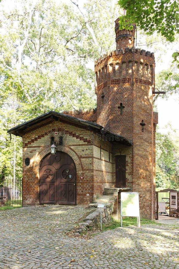 Sosta di Wilanow. Torre del mattone. Varsavia. La Polonia. fotografia stock