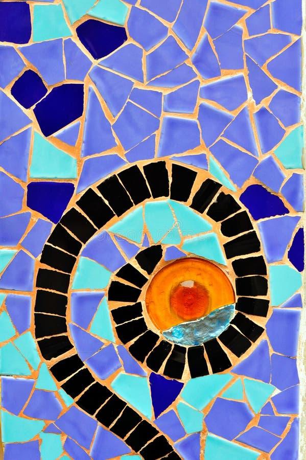Sosta Guell Antoni Gaudi Barcellona Spagna fotografie stock