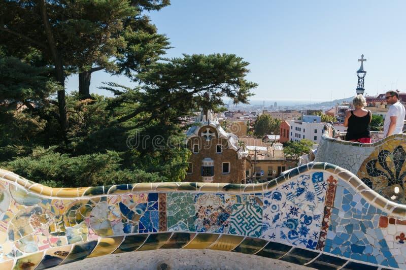 Sosta Guell, Barcellona immagini stock libere da diritti