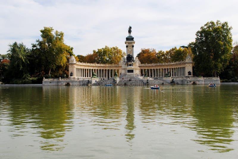 Sosta Madrid di Retiro immagine stock