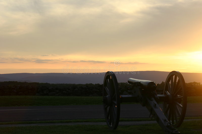 Sosta militare nazionale di Gettysburg fotografie stock