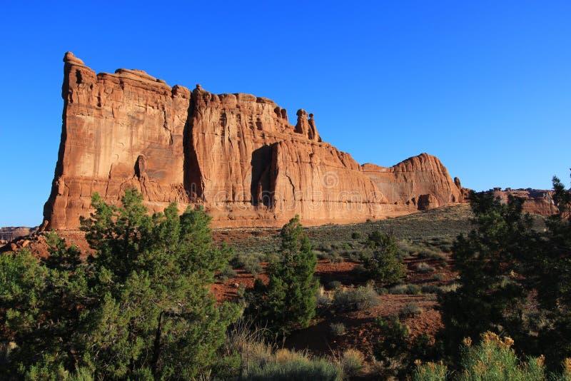 Sosta nazionale degli archi nell'Utah fotografie stock libere da diritti