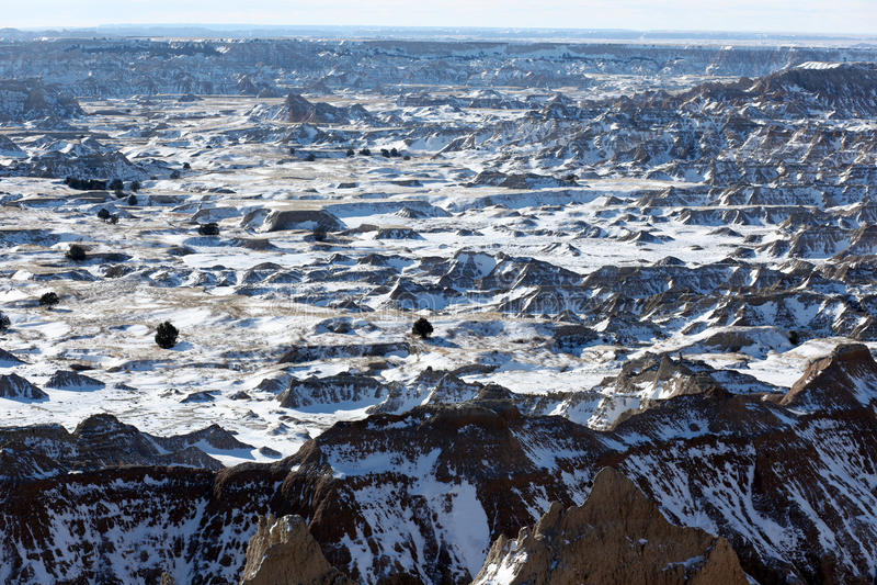 Sosta nazionale dei calanchi nel Dakota del Sud, S.U.A. immagini stock
