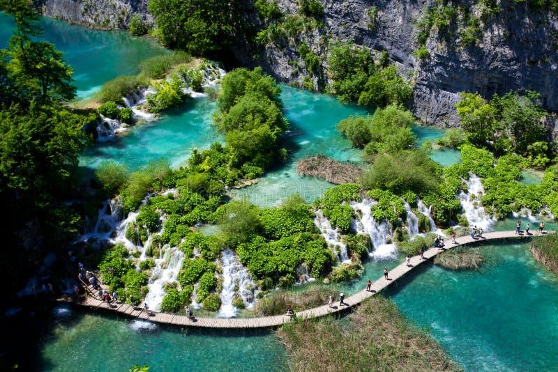 Sosta nazionale dei laghi Plitvice immagini stock libere da diritti