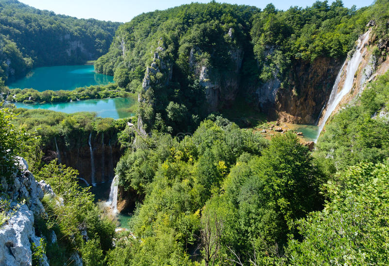 Sosta nazionale dei laghi Plitvice (Croatia) immagini stock libere da diritti