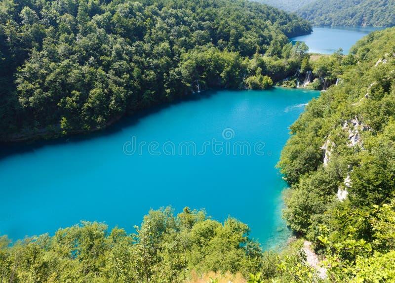 Sosta nazionale dei laghi Plitvice (Croatia) immagine stock