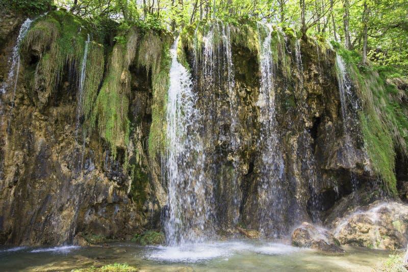 Sosta nazionale dei laghi Plitvice nel Croatia fotografie stock