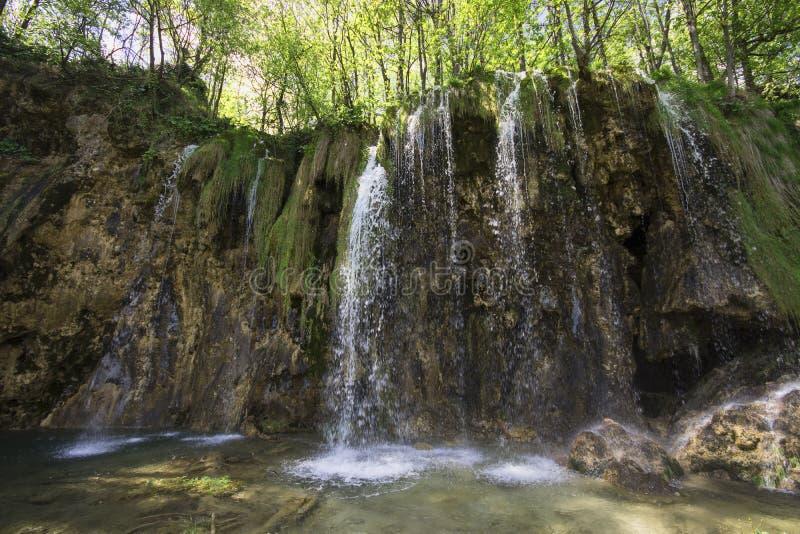 Sosta nazionale dei laghi Plitvice nel Croatia fotografie stock libere da diritti