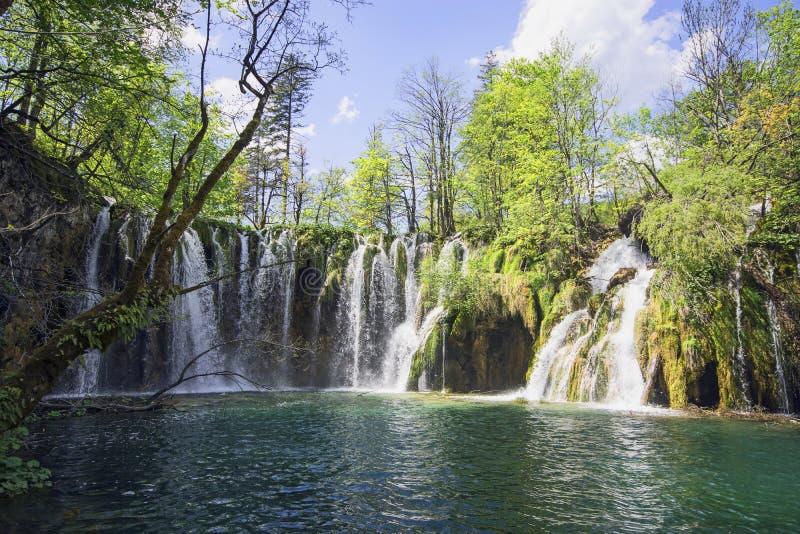 Sosta nazionale dei laghi Plitvice nel Croatia fotografia stock libera da diritti