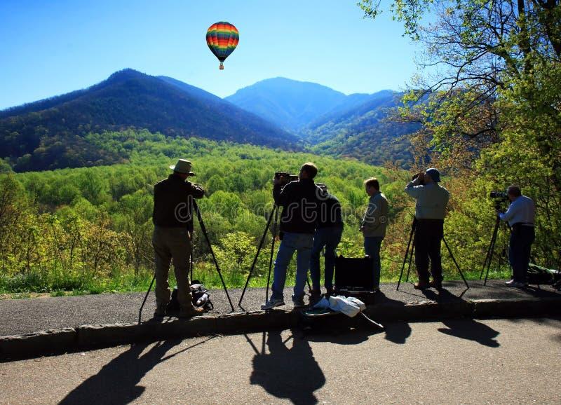 Sosta nazionale della montagna fumosa fotografia stock libera da diritti