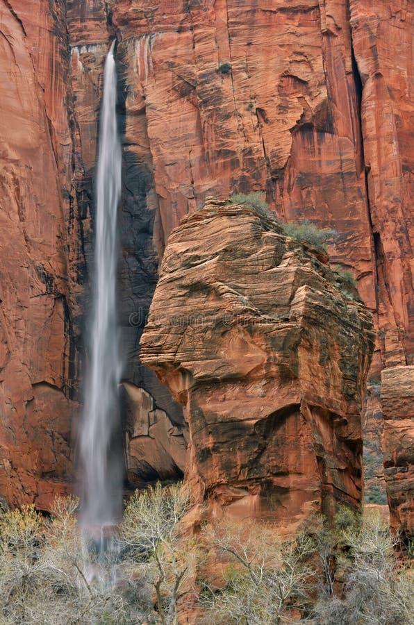 Sosta nazionale di Zion della cascata fotografia stock