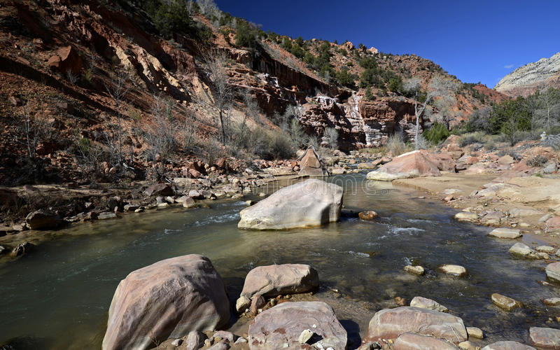 Sosta nazionale di Zion, Utah, S fotografie stock