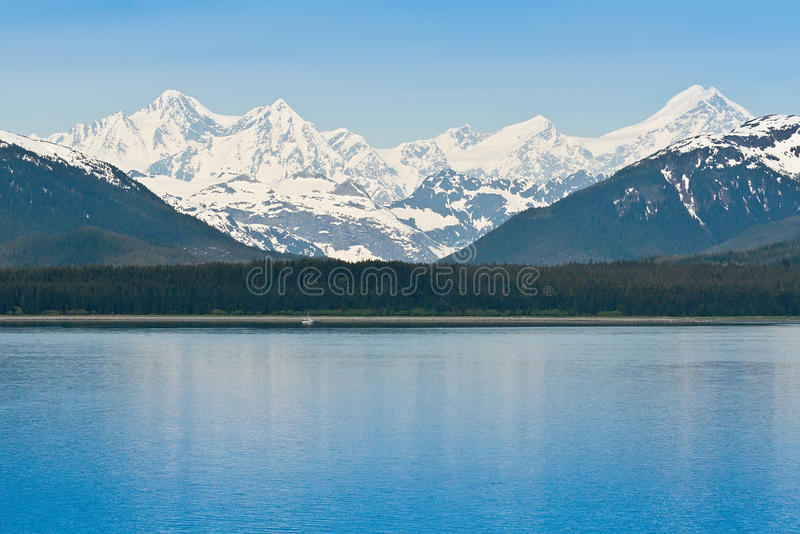 Sosta nazionale e conserva della baia di ghiacciaio fotografia stock