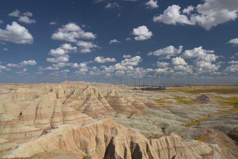 Sosta nazionale il Dakota del Sud dei calanchi immagini stock