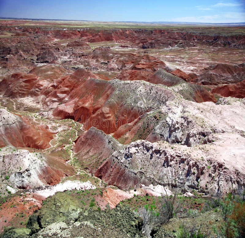 Sosta nazionale verniciata del deserto in Arizona fotografie stock libere da diritti