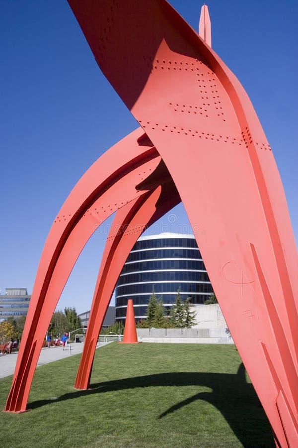 Sosta olimpica della scultura, Seattle fotografia stock