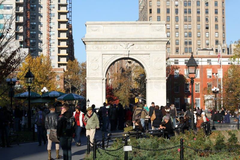 Sosta quadrata NYC di Washington immagine stock
