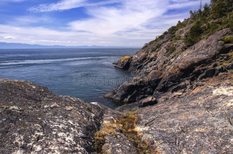 Sosta regionale orientale di Sooke, isola di Vancouver, BC fotografia stock