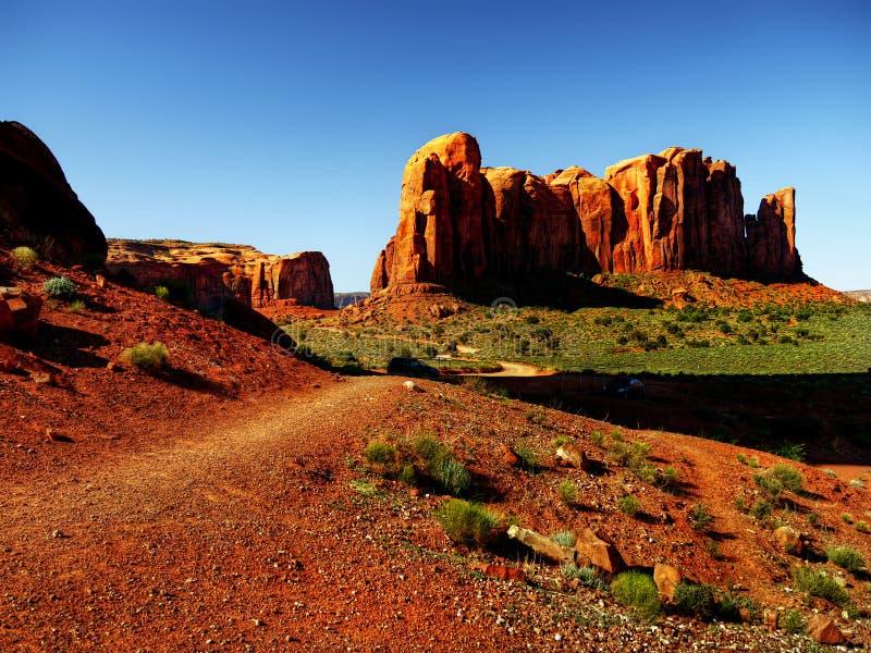 Sosta tribale navajo della valle del monumento, Arizona fotografia stock libera da diritti