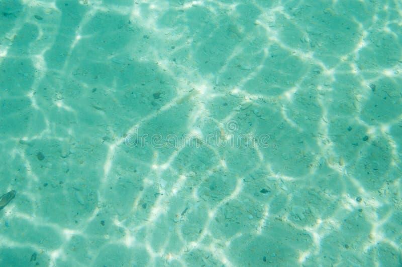 Sostanza caustica dell'acqua del pavimento di mare fotografia stock libera da diritti