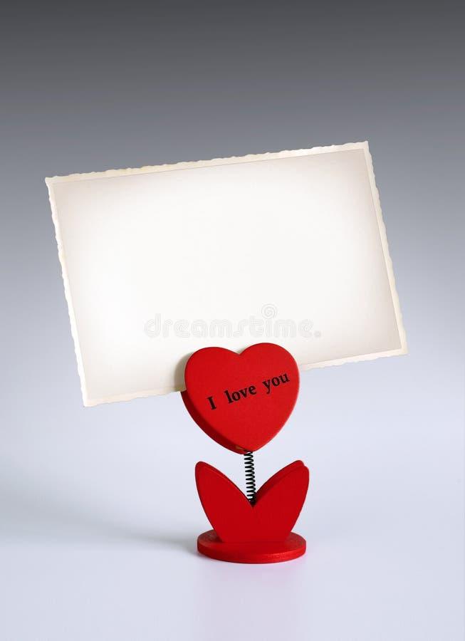 Sostenedor de la foto del corazón imagen de archivo libre de regalías
