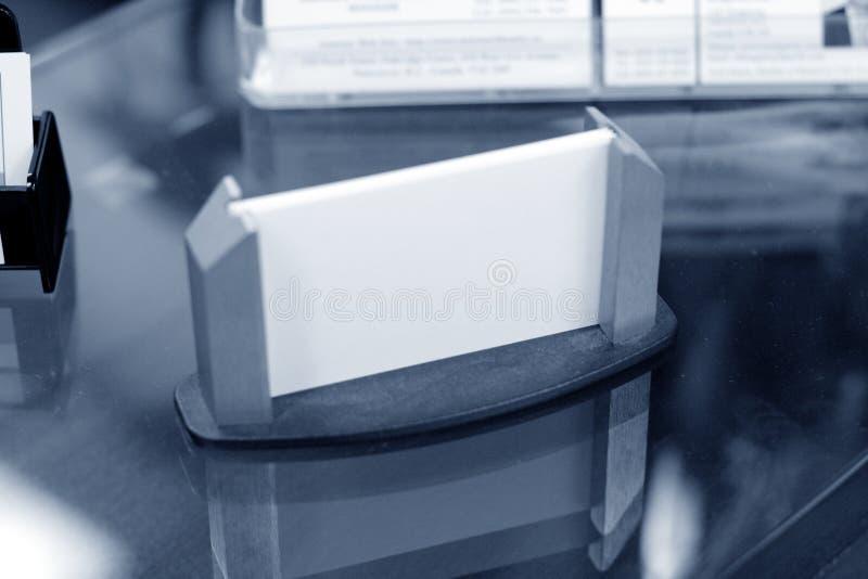 Sostenedor de la tarjeta de visita fotografía de archivo
