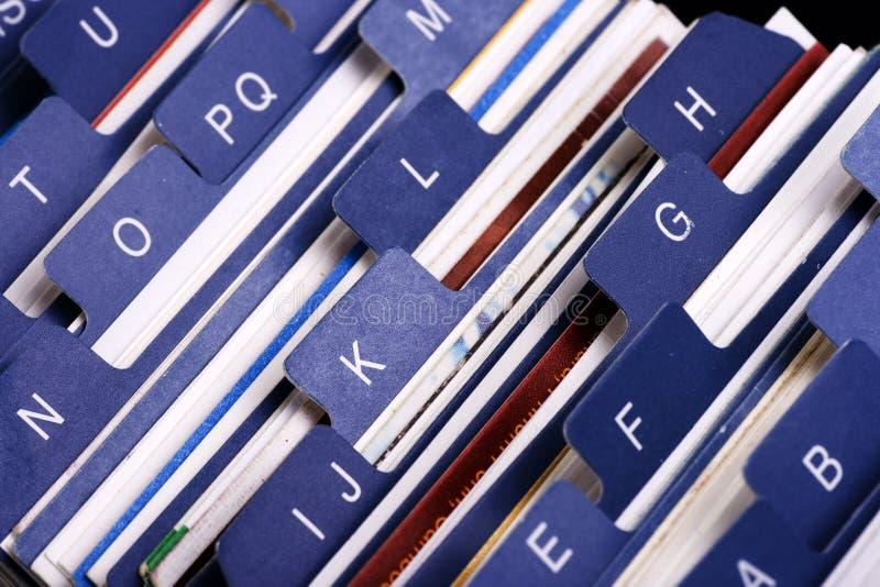 Sostenedor del índice de la tarjeta de visita fotografía de archivo libre de regalías