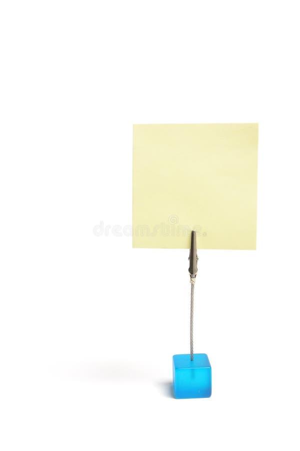 Sostenedor del clip de la nota imagenes de archivo