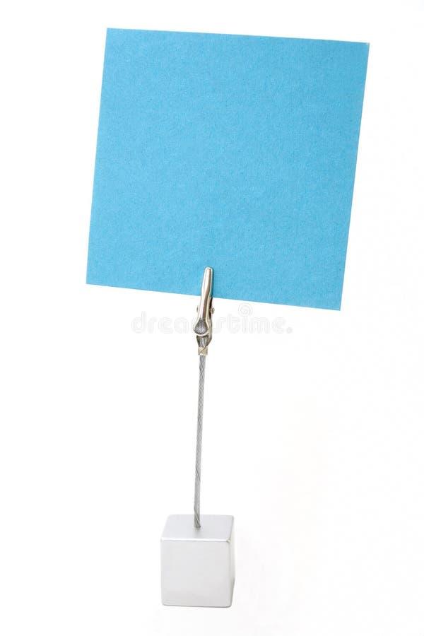 Sostenedor del papel de nota imagen de archivo libre de regalías