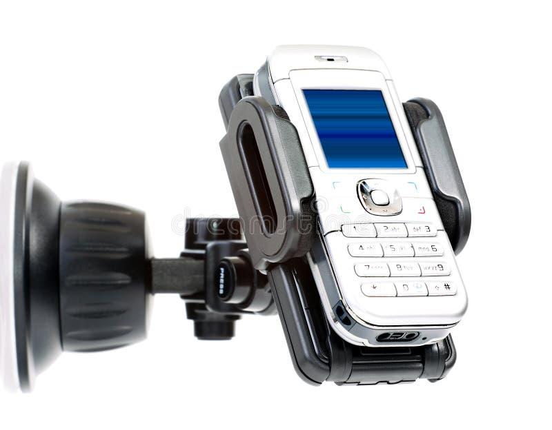 Sostenedor y móvil del coche fotografía de archivo libre de regalías