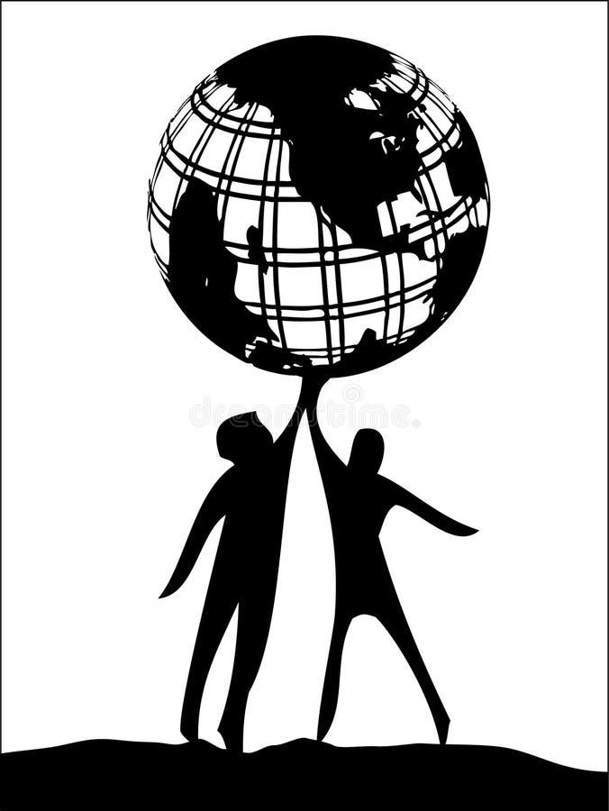 Sostener el mundo ilustración del vector