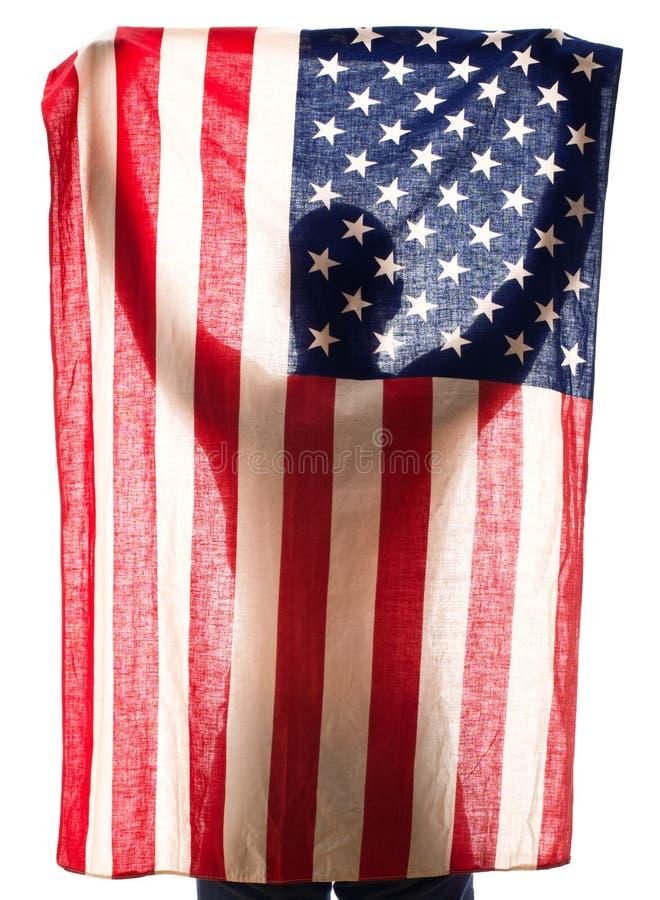 Sostener la bandera fotos de archivo