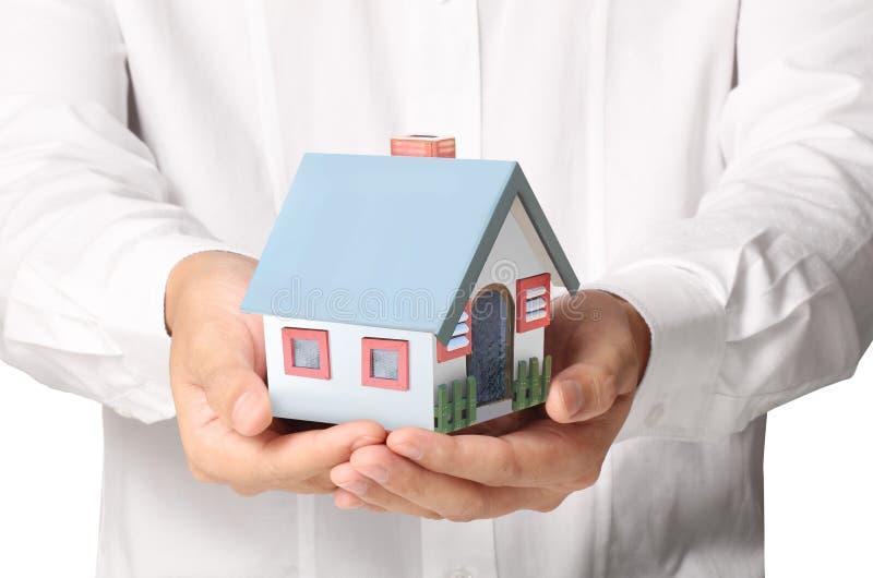 Sostener la casa stock de ilustración