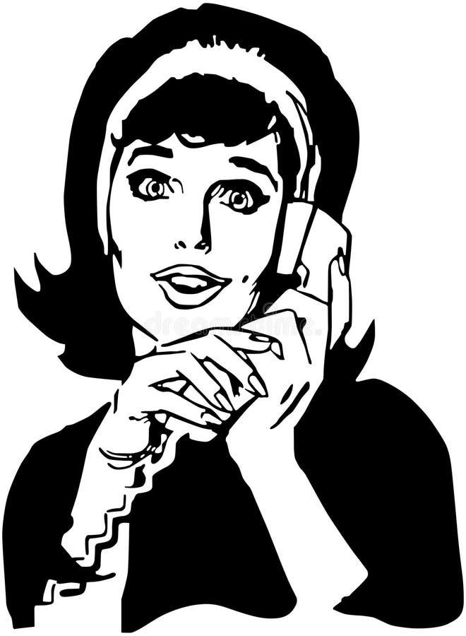Sostenga el teléfono ilustración del vector
