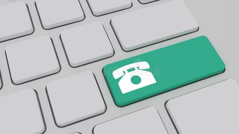 Sostenga il concetto, bottone sulla tastiera di computer moderna con forma o illustrazione vettoriale