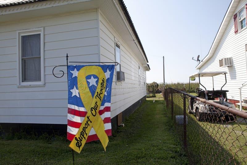 Sostenga la nostra insegna delle truppe, Chesapeake immagine stock libera da diritti