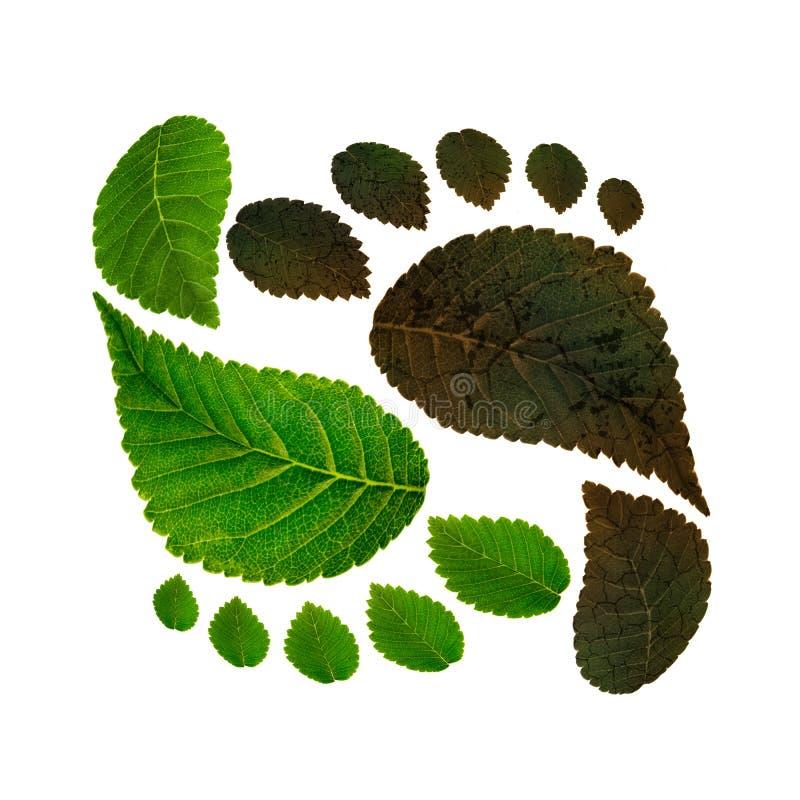 Sostenibilità di ecologia contro inquinamento ambientale fotografie stock libere da diritti