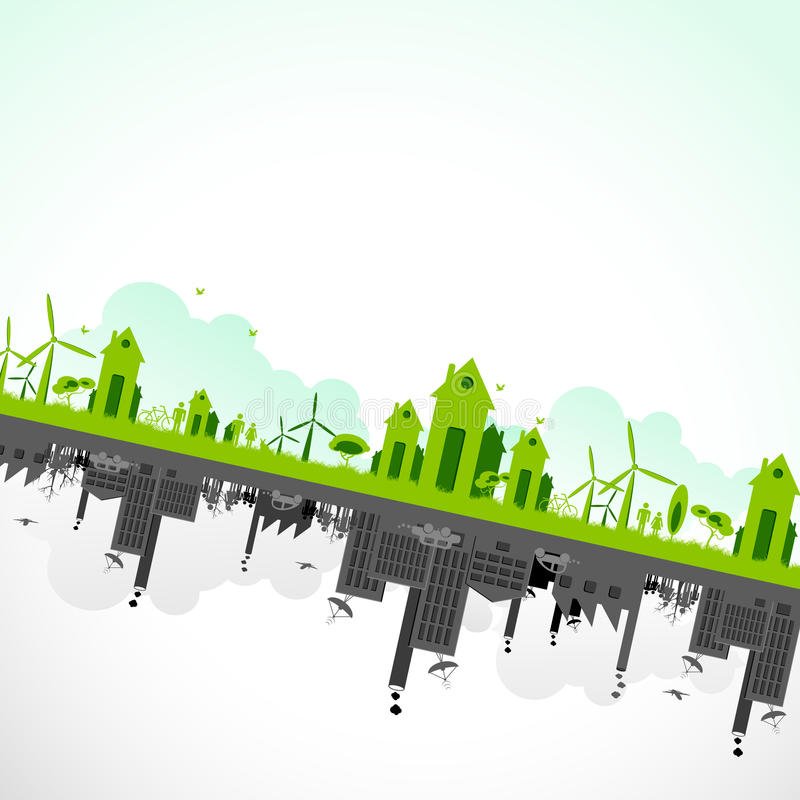 Sostenibilità di terra illustrazione di stock