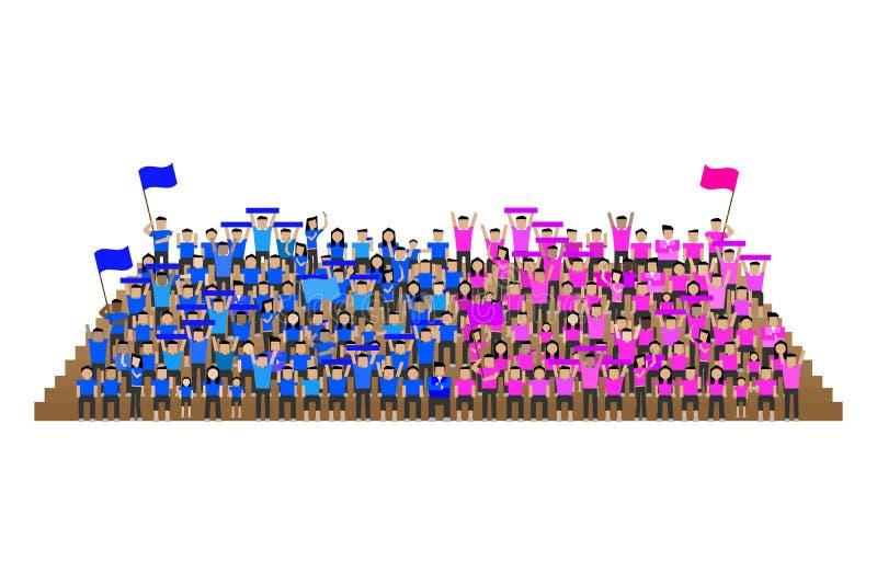 Sostenitore dello sport di squadra che incita il supporto illustrazione vettoriale