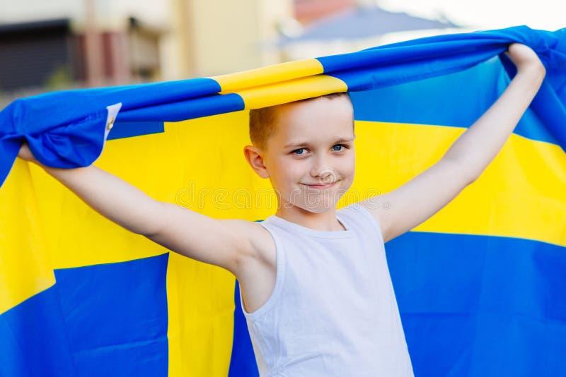 Sostenitore nazionale della squadra di football americano della Svezia fotografie stock libere da diritti